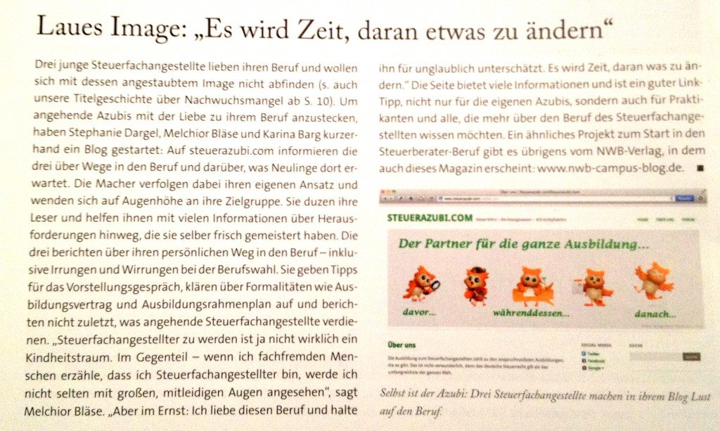 Steuerberater-Magazin